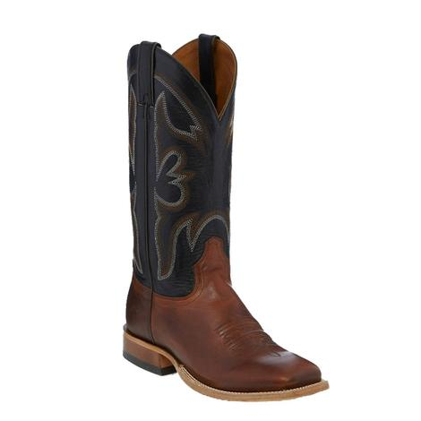 Tony Lama Mens Brown and Black Boots