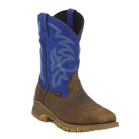 Tony Lama Mens Tan Gaucho Victory Blue Steel Toe Work Boot