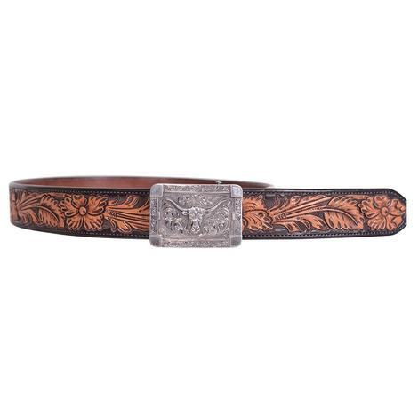 Clint Orms Martin 1801 Silver Longhorn Rectangular Buckle
