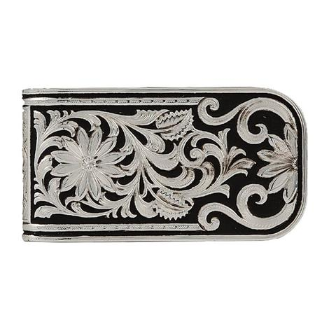 Montana Silversmiths Leather Cut Bitterroot Money Clip
