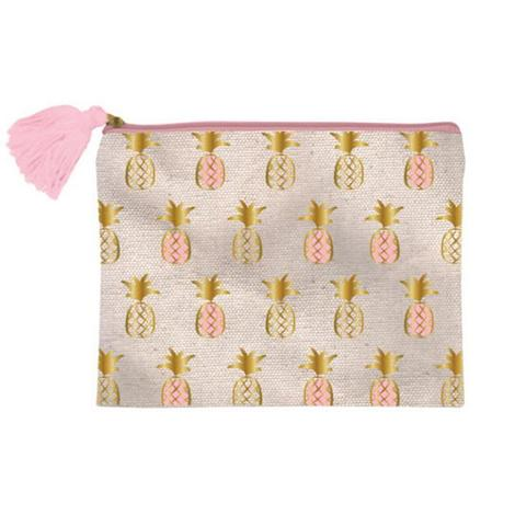 Canvas Pineapple Cosmetic Bag