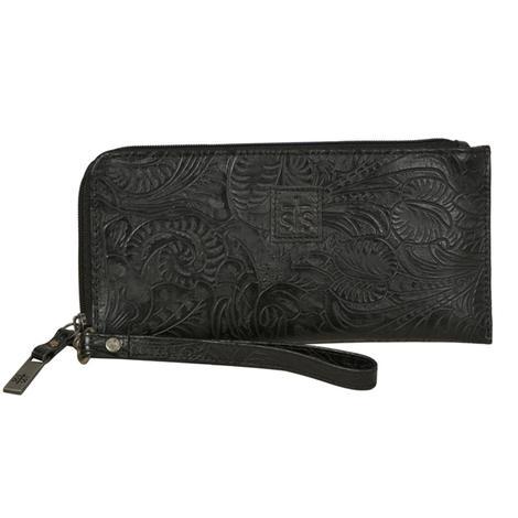 STS Ranchwear Floral Black Clutch