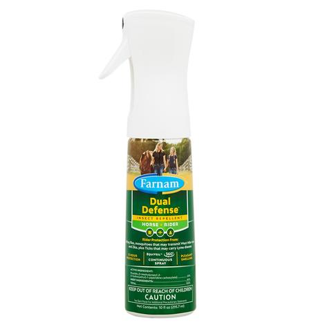 Farnam Dual Defense 2-in-1 Insect Repellent for Horse and Rider 10oz