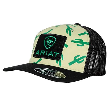 Ariat Cactus Black and Tan Mesh Back Cap