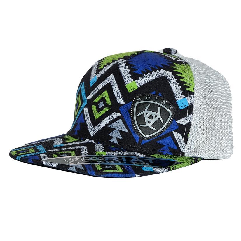 Ariat Youth Multi- Color Geometric Mesh Back Cap