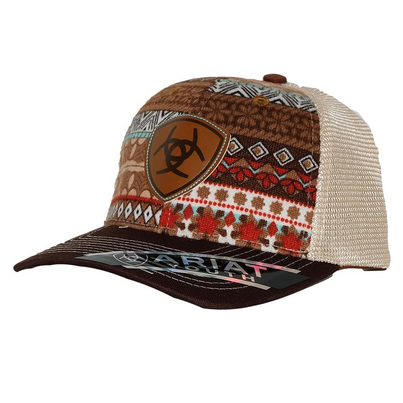 Ariat Kids Girl Aztec Brown Mesh Cap