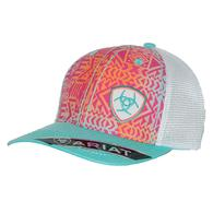 Ariat Pink Turquoise Multicolor Tribal Mesh Back Cap