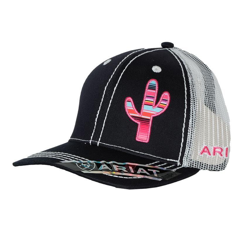Ariat Womens Offset Pink Serape Cactus Cap