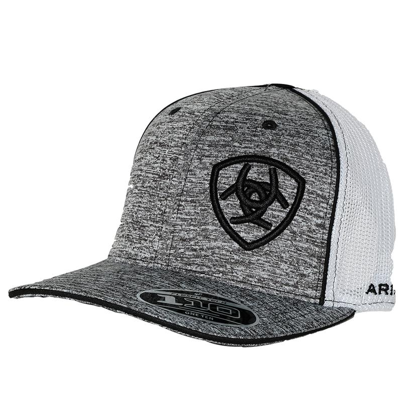 Ariat Heather Grey Black And White Mesh Back Cap