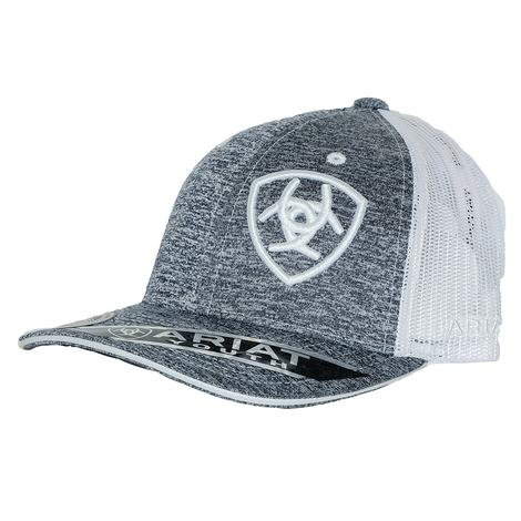 Ariat Heather Grey Youth Mesh Cap