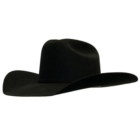 Resistol 40X Arena 4.25in Brim Black Felt Hat - Precreased