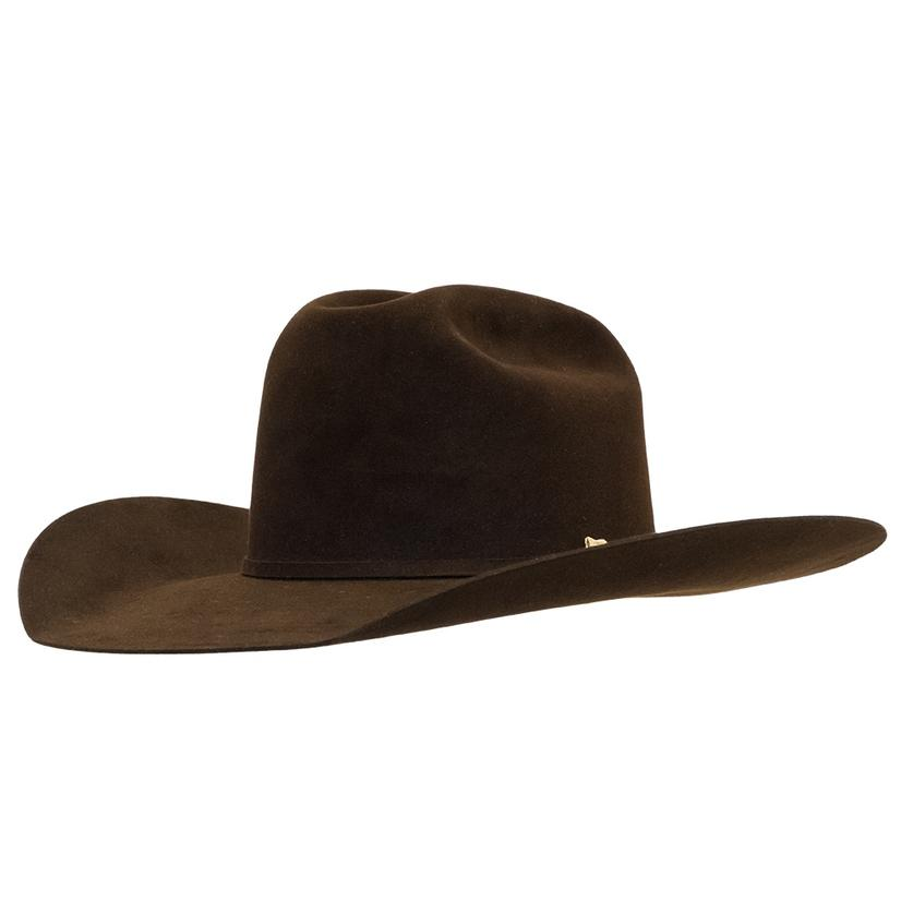 8b61b4b22d2 ... brim open crown felt hat (item   rfbngd-164252). Resistol 20x Brown  Gold 4.25