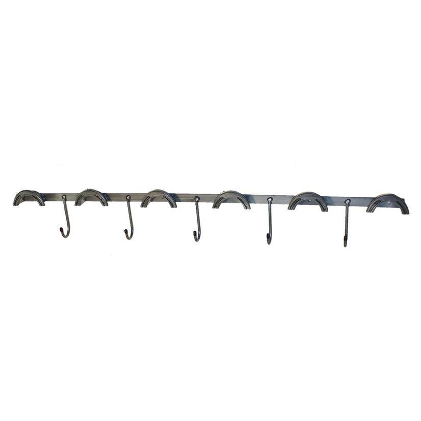 Metal Tack Rack - 6 Round Top - 5 J- Hooks Wall Mount