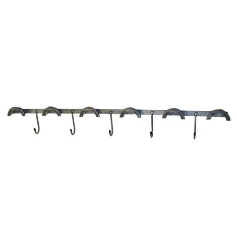 Metal Tack Rack - 6 Round top - 5 J-Hooks Wall Mount