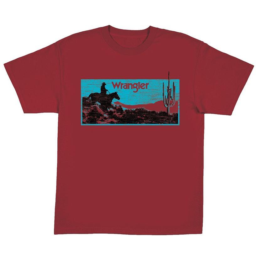 Wrangler Boys Short Sleeve Maroon Desert Tee
