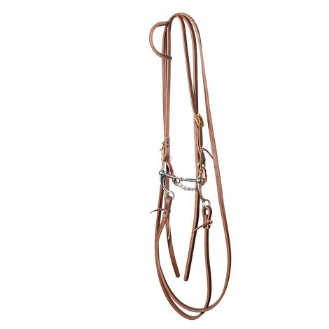 STT Slide Ear Bridle Set with Split Reins and Stockman 6inch Copper Shank Snaffle Bit
