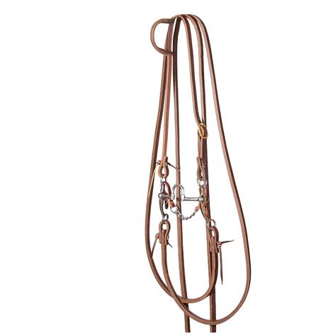STT Split Rein Slide Ear Bridle Set with Stockman 6inch Copper Shank Correction Bit