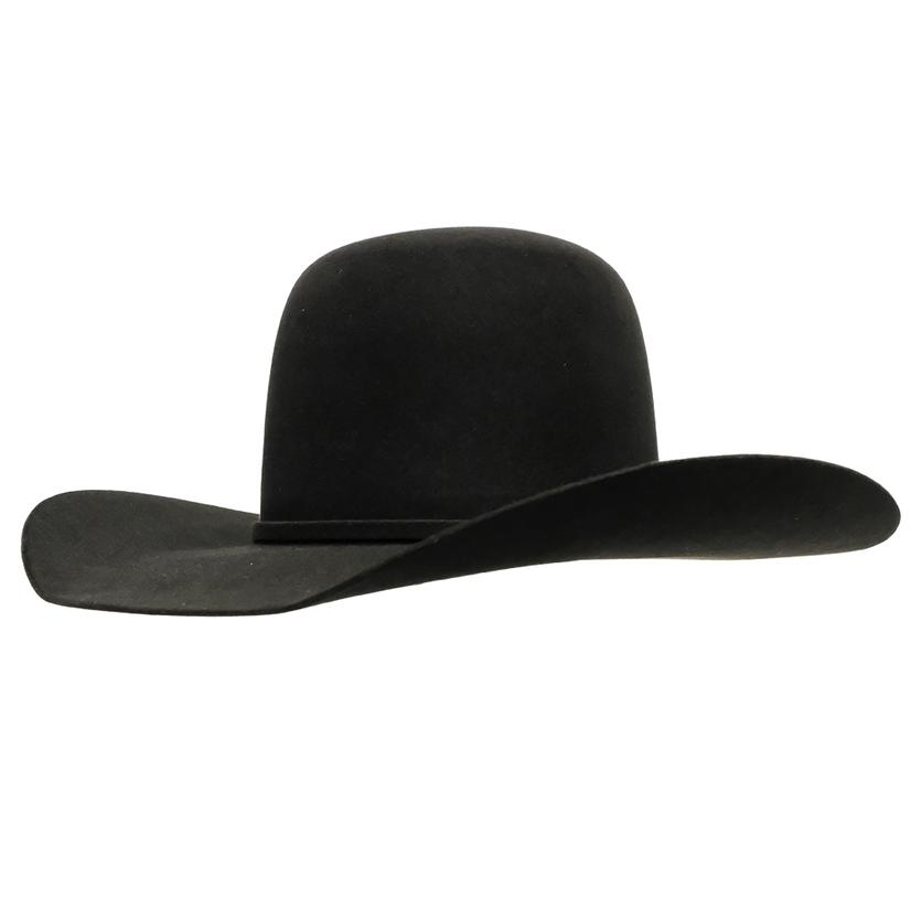 Rodeo King 5X Bullrider 4.25 Brim Open Crown Felt Hat - Black Charcoal Pecan BLACK