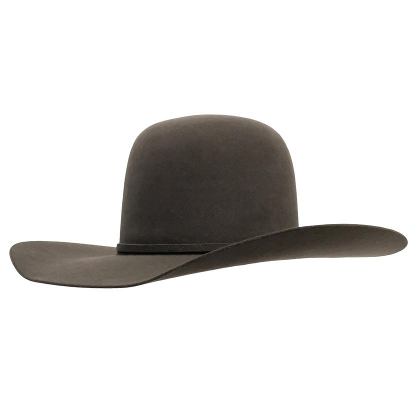 Rodeo King 5X Bullrider 4.25 Brim Open Crown Felt Hat - Black Charcoal Pecan CHARCOAL