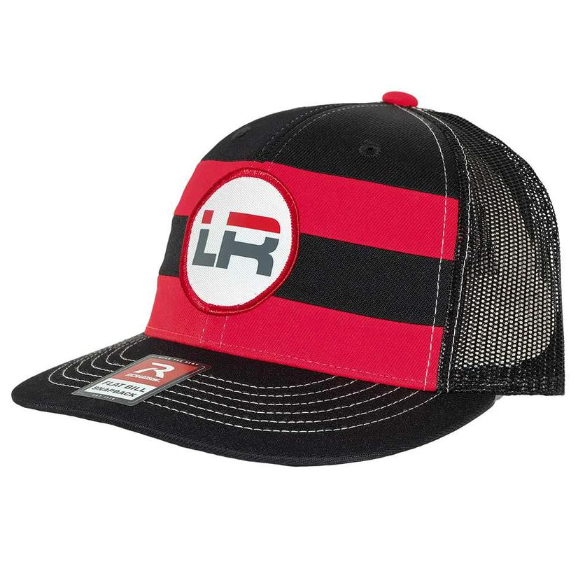 Let's Rope Red And Black Stripe Cap