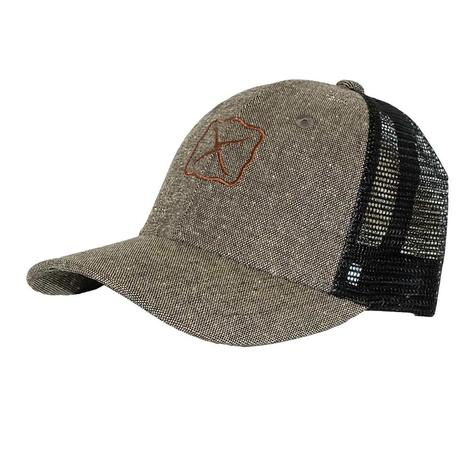 Twisted X Eco Dust Brown Black Mesh Back Cap