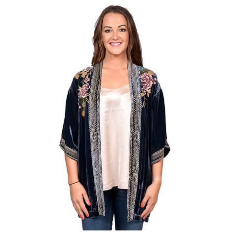 Johnny Was Womens Quito Velvet Kimono
