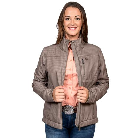 Cinch Womens Brown Printed Bonded Concealed Carry Jacket