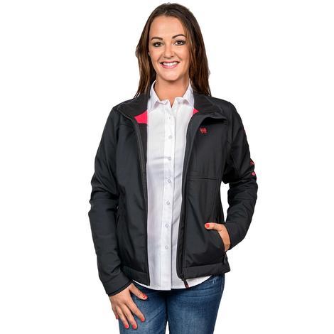 Cinch Black Bonded Concealed Carry Red Logo Jacket