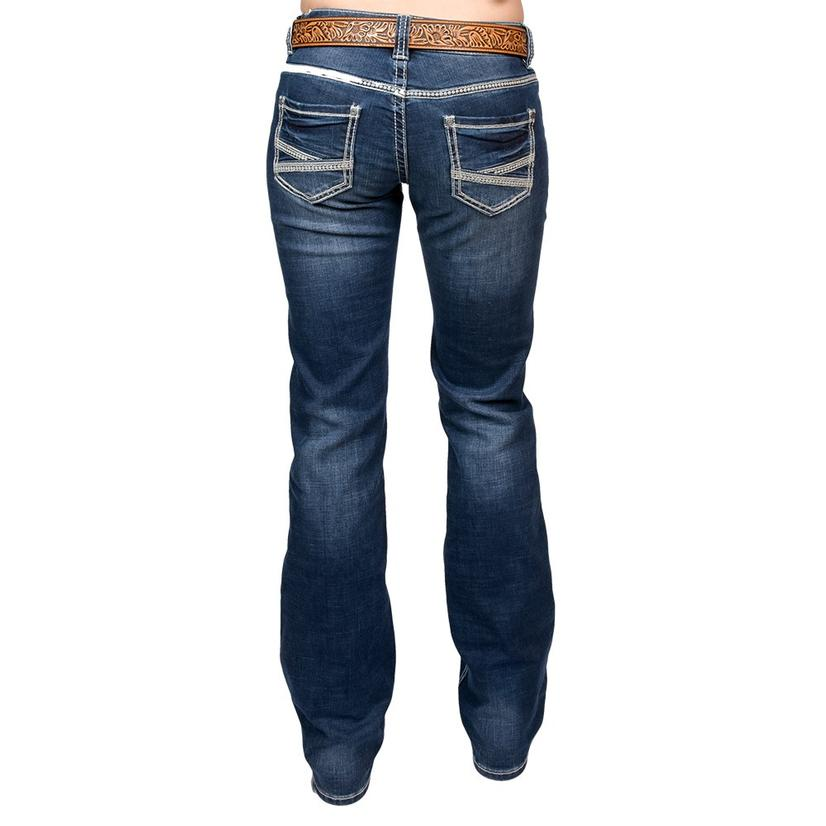Rock & Roll Cowgirl Womens Dark Vintage Riding Jeans