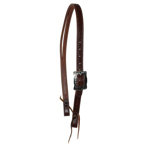 STT Slit Ear Headstall with Don Carlos Stamping - 1inch