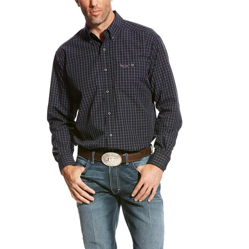 Ariat Mens Relentless Stealth Black Long Sleeve Shirt
