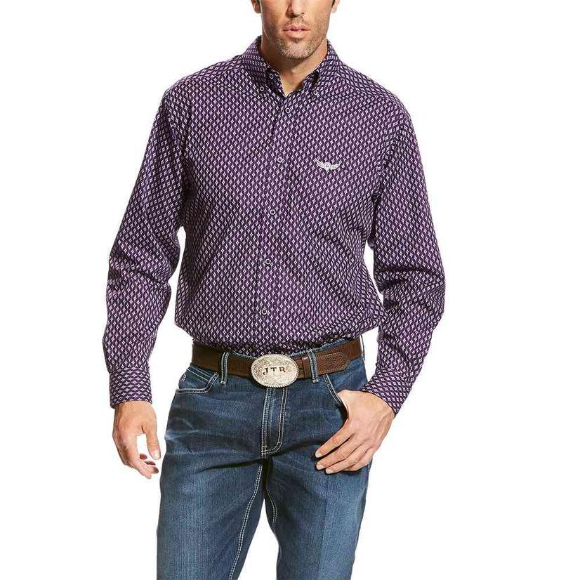 Ariat Mens Relentless Strength Purple Tonic Long Sleeve Shirt