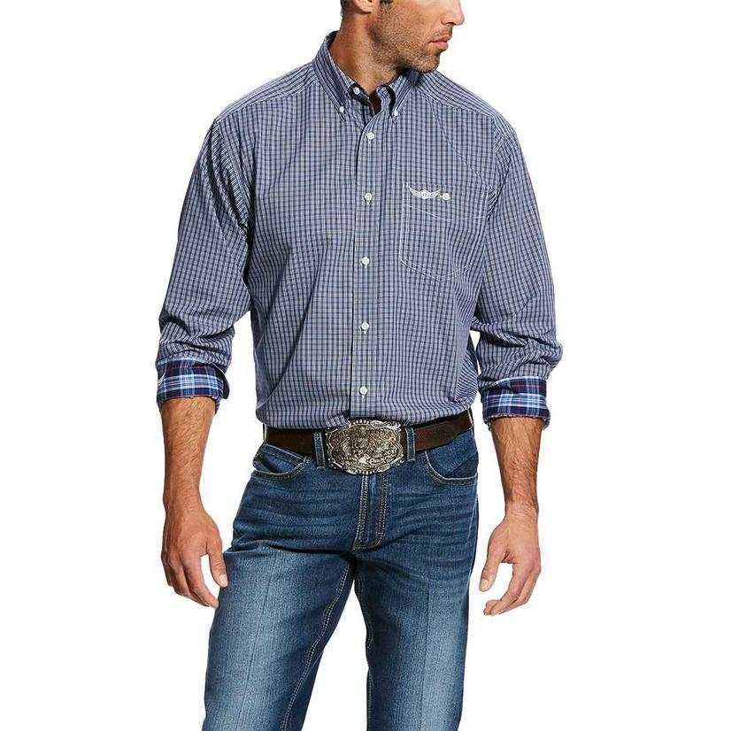 Ariat Relentless Purple Plaid Honorable Long Sleeve Men's Shirt