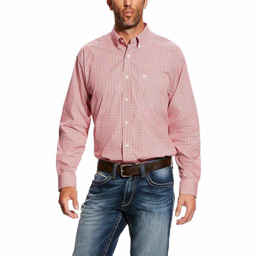 Ariat Drasco Red Print Classic Long Sleeve Men's Shirt