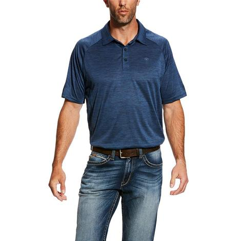 Ariat Charger Polo Blue Pine Men's Shirt