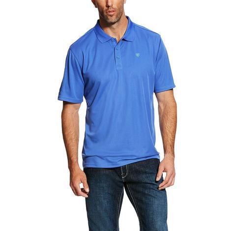 Ariat Tek Polo Ampara Blue Short Sleeve Men's Shirt
