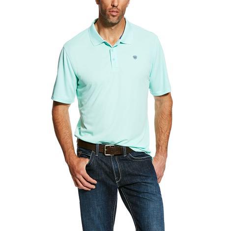 Ariat Tek Polo Aquis Mint Polo Men's Shirt