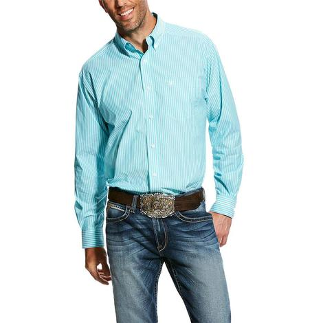 Ariat Griffith Aqua Stripe Long Sleeve Button Down Men's Shirt