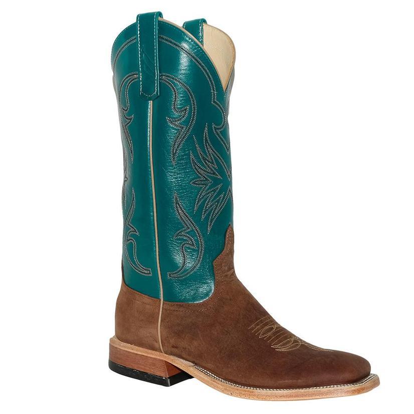 Anderson Bean Womens Red Dirt Kangaroo Garganey Kidskin Teal Boots
