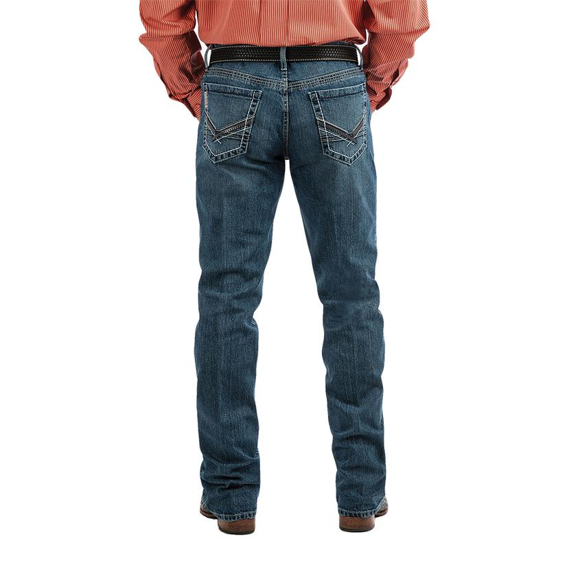 Cinch Ian Mid Rise Slim Bootcut Men's Jeans - Medium Stonewash