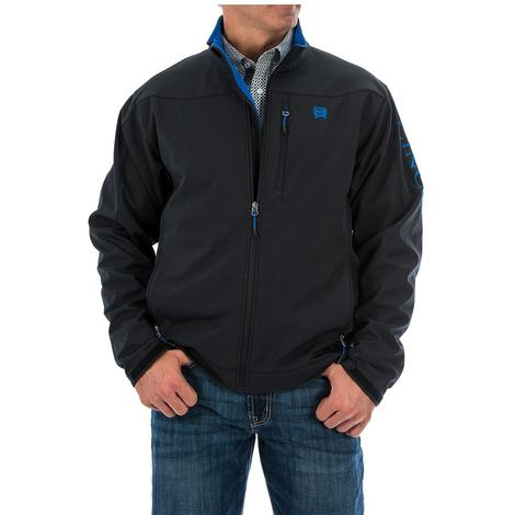 Cinch Mens Black Concealed Carry Blue Accent Bonded Jacket