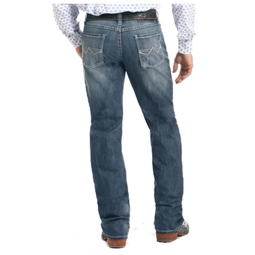 Panhandle Slim Mens Tuf Cooper Competition Fit Reflex Medium Wash Jeans
