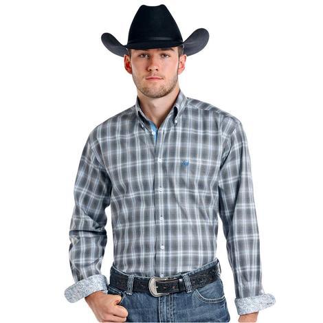 Panhandle Slim Mens Long Sleeve Plaid Western Shirt