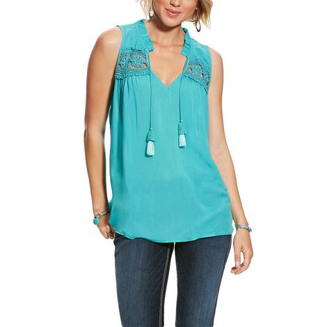 Ariat Ivy Turquoise Sleeveless Women's Top