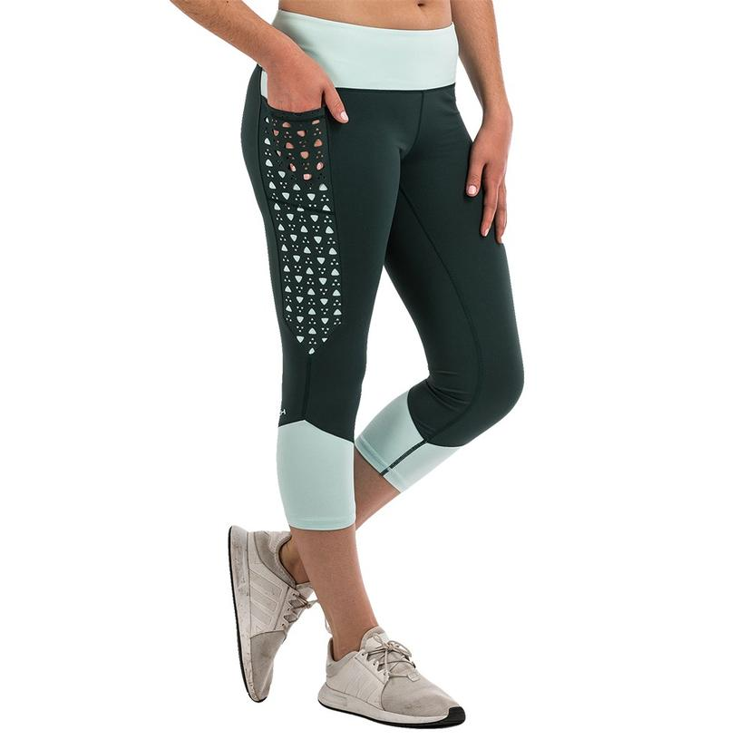 Cinch Forest Green Mint Capri Leggings