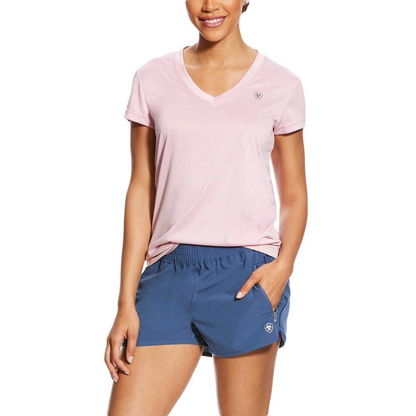 Ariat Pink Laguna Short Sleeve Women's Top