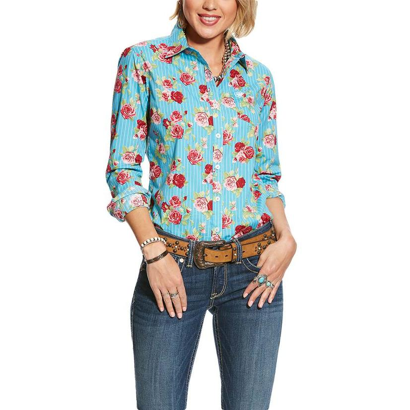 Ariat Kirby Stretch Floral Stripe Long Sleeve Women's Shirt