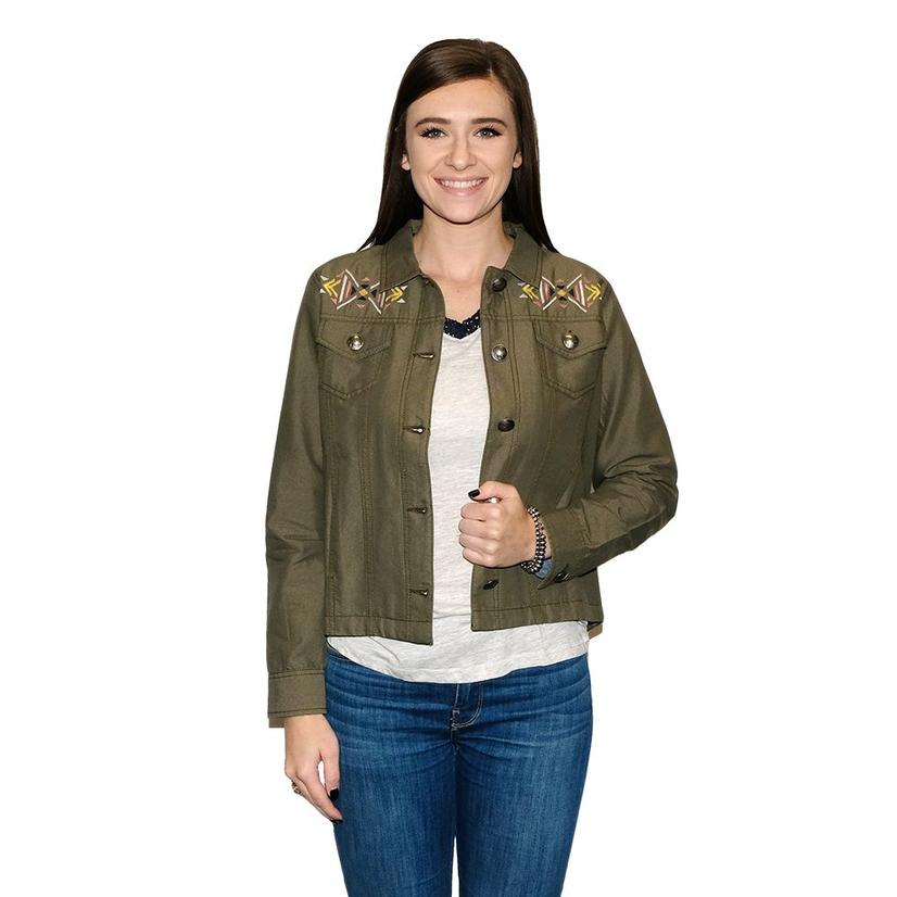 Ariat Lulu Olive Button Up Women's Jacket