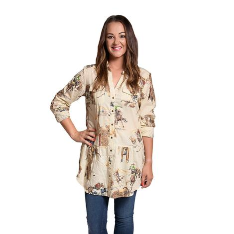 Tasha Polizzi Four Corners Western Tunic Top