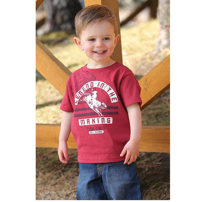 Cinch Red Legend In The Making Tee - Infant